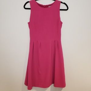 H&M Fit and Flare Pleated Pink Dress Size 4